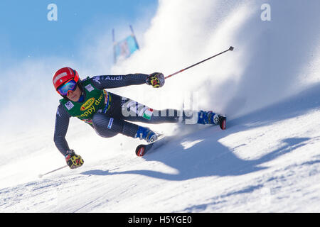 Solden, Austria. 22nd Oct, 2016. Federica Brignone of Italy competes during the first run of FIS World Cup Ladies - Stock Photo