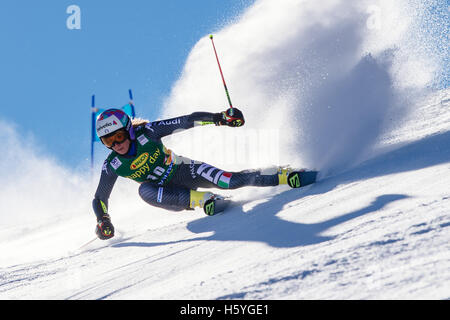 Solden, Austria. 22nd Oct, 2016. Marta Bassino of Italy competes during the first run of FIS World Cup Ladies Giant - Stock Photo