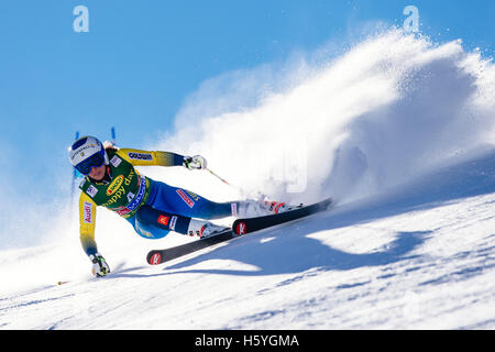 Solden, Austria. 22nd Oct, 2016. Maria Pietilae-Holmner of Sweden competes during the first run of the FIS World - Stock Photo