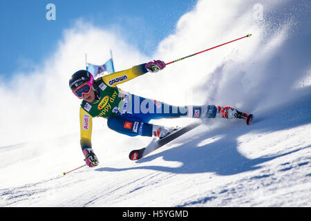 Solden, Austria. 22nd Oct, 2016. Frida Hansdotter of Sweden competes during the first run of the FIS World Cup Ladies - Stock Photo