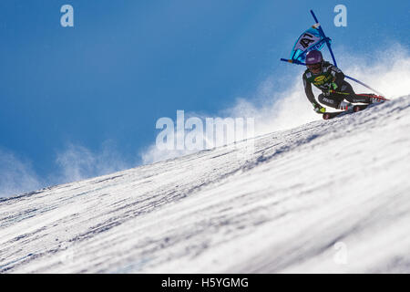 Solden, Austria. 22nd Oct, 2016. Tessa Worley of France competes during the first run of the FIS World Cup Ladies - Stock Photo