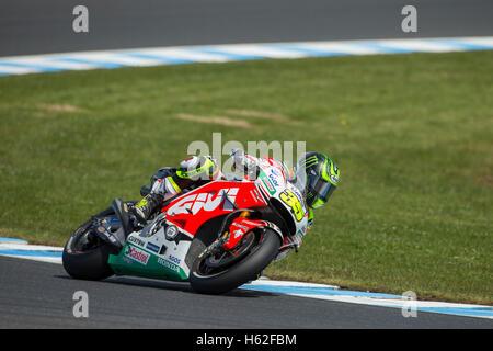 Phillip Island, Australia. 23rd October, 2016. MotoGP. Warm Up. Cal Crutchlow, LCR Honda MotoGP Team. Credit:  Russell - Stock Photo