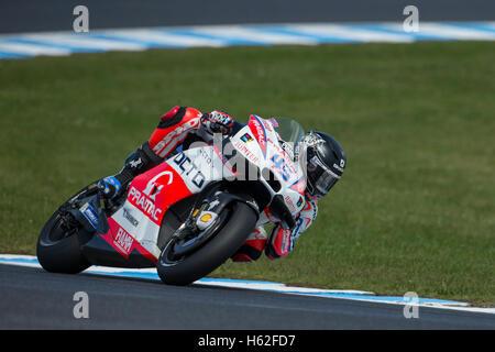 Phillip Island, Australia. 23rd October, 2016. MotoGP. Warm Up. Scott Redding, Octo Pramac Yakhnich MotoGP Team. - Stock Photo