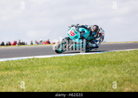 Melbourne, Australia. 23rd October, 2016. Lukey Heights  during the 2016 Michelin Australian Motorcycle Grand Prix - Stock Photo