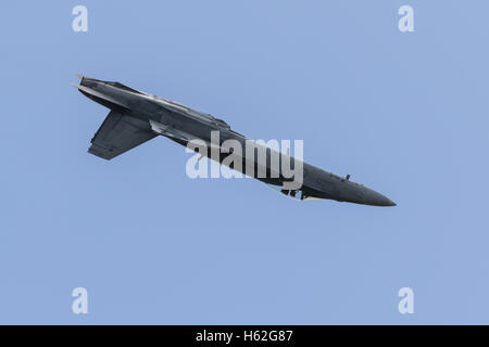 Melbourne, Australia. 23rd October, 2016. An F-18 during the 2016 Michelin Australian Motorcycle Grand Prix  at - Stock Photo