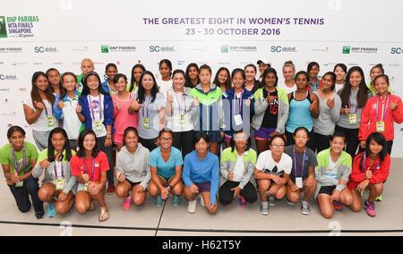 Singapore. 23rd Oct, 2016. General view, OCTOBER 23, 2016 - Tennis : BNP Paribas WTA Finals Women's U14 at the Singapore - Stock Photo