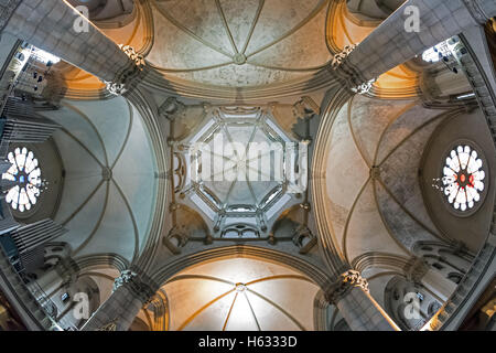 MUNICH, GERMANY - MAY 15, 2016: Saint Luke church in Munich, view of the ceiling ( dome ) - Stock Photo