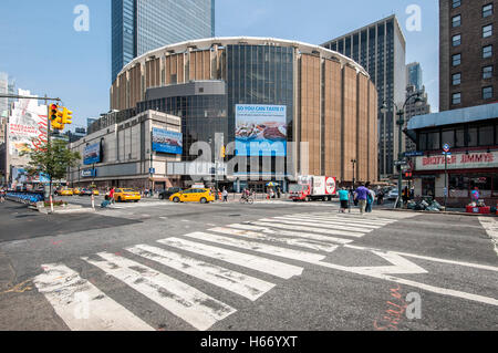 Madison Square Garden on 8th Avenue at West 31st Street, Midtown Manhattan, New York City - Stock Photo