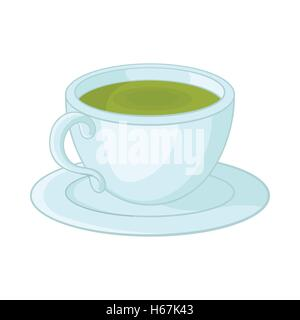 A cup of tea icon in cartoon style - Stock Photo