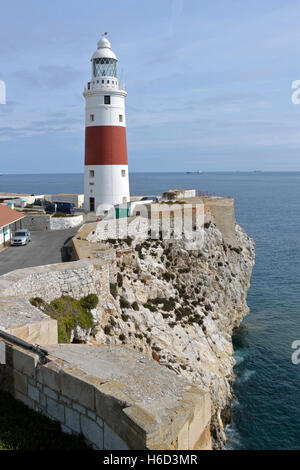 Europa Point Lighthouse, Gibraltar - Stock Photo