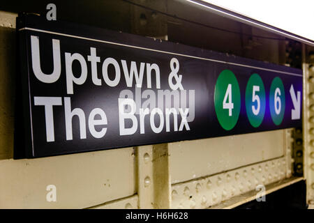 An Uptown Amp The Bronx New York Subway Train Waiting At A