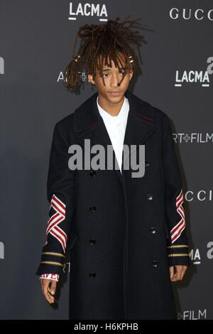 Los Angeles, CA, USA. 29th Oct, 2016. Jaden Smith at arrivals for 2016 LACMA Art   Film Gala, Los Angeles County - Stock Photo