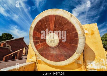 Narivalaya Yantra - Sundial in Jantar Mantar, India - Stock Photo