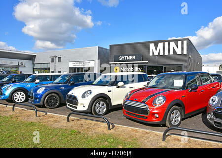 Second Hand Used Cars For Sale On Garage Forecourt Stock