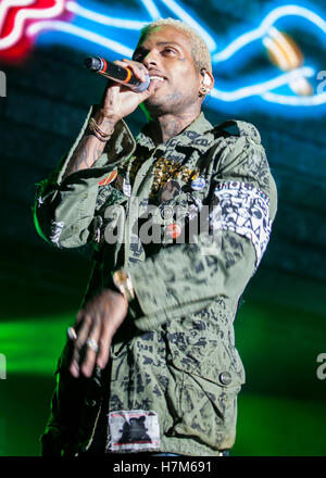 Los Angeles, USA. 05th Nov, 2016. Kid Ink performs at The Real Show 2016 presented by Real 92.3 at The Forum in - Stock Photo