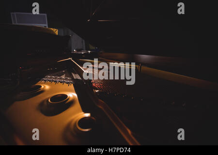 Close-up of piano instrument - Stock Photo