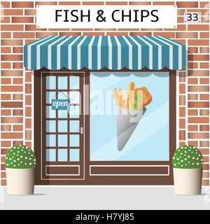 Illustration for seafood restaurant and cafe menu for Fish and chip shop menu template