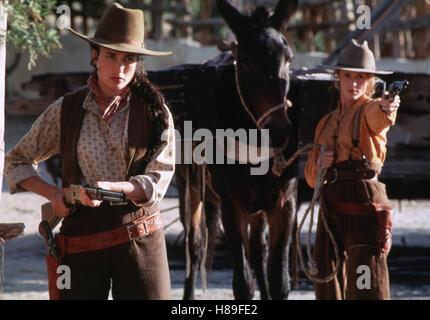 Bad Girls, (BAD GIRLS) USA 1994, Regie: Jonathan Kaplan, ANDIE MacDOWELL, MARY STUART MASTERSON, Stichwort: Pferd, - Stock Photo