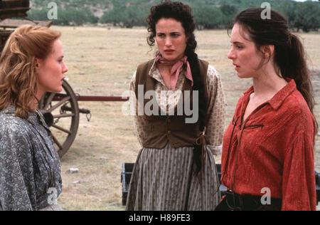 Bad Girls, (BAD GIRLS) USA 1994, Regie: Jonathan Kaplan, MARY STUART MASTERSON, ANDIE MacDOWELL, MADELEINE STOWE - Stock Photo