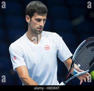 The O2, London, UK. 11th November, 2016. Barclays ATP World Tour Finals. Top eight world singles players practice - Stockfoto