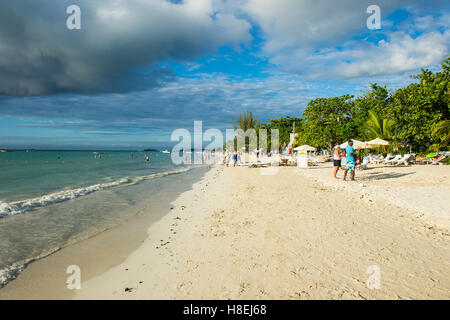 Seven Mile Beach, Negril, Jamaica, West Indies, Caribbean, Central America - Stock Photo