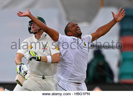 Cricket - Australia v South Africa - Second Test cricket match - Bellerive Oval, Hobart, Australia - 12/11/16 Australia's - Stock Photo