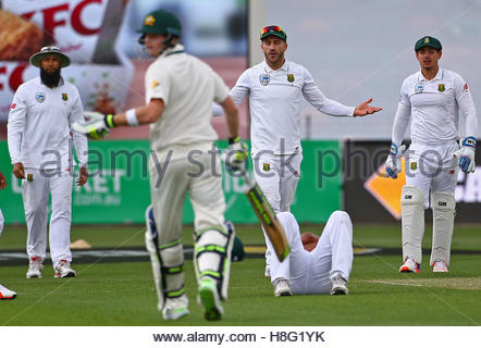 Cricket - Australia v South Africa - Second Test cricket match - Bellerive Oval, Hobart, Australia - 12/11/16 South - Stock Photo