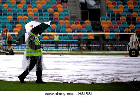 Cricket - Australia v South Africa - Second Test cricket match - Bellerive Oval, Hobart, Australia - 13/11/16 A - Stock Photo