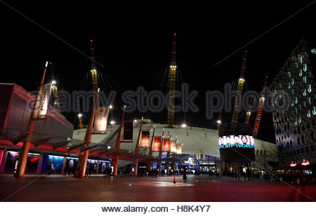 Britain Tennis - Barclays ATP World Tour Finals - O2 Arena, London - 13/11/16 General view outside the arena Action - Stock Photo