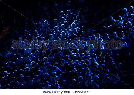 Britain Tennis - Barclays ATP World Tour Finals - O2 Arena, London - 13/11/16 Fans watch from the stands Action - Stock Photo