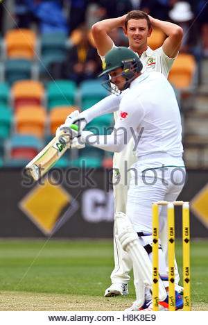 Cricket - Australia v South Africa - Second Test cricket match - Bellerive Oval, Hobart, Australia - 14/11/16 Australia's - Stock Photo