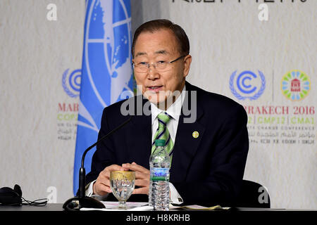 Marrakech, Morocco. 15th Nov, 2016. United Nations Secretary-General Ban Ki-moon speaks during a press conference - Stock Photo