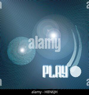 abstract blue circles over black background. vector geometric, shiny wallpaper template. cool design backdrop. music - Stock Photo