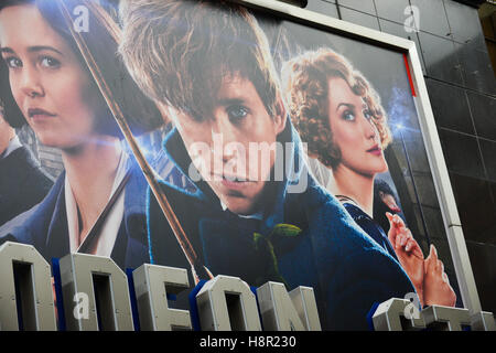 Leicester Square, London, UK. 15th November 2016. premiere of the film Fantastic Beasts and Where to Find Them. - Stock Photo