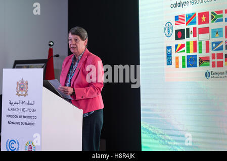 Marrakech, Morocco. 15th Nov, 2016. The German Federal Minister of the Environment Barbara Hendricks speaks at the - Stock Photo