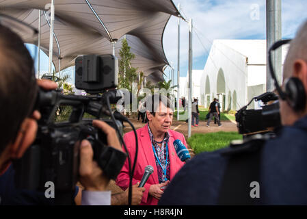 Marrakech, Morocco. 15th Nov, 2016. The German Federal Minister of the Environment Barbara Hendricks speaks during - Stock Photo