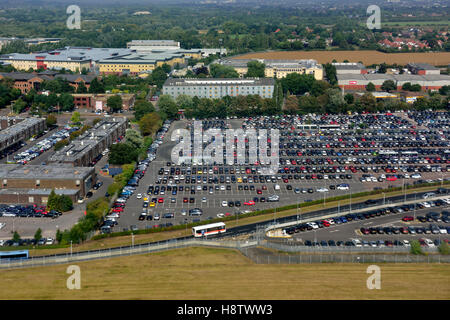 Aerial view of Heathrow Northwood Road Car Park, London, UK - Stock Photo