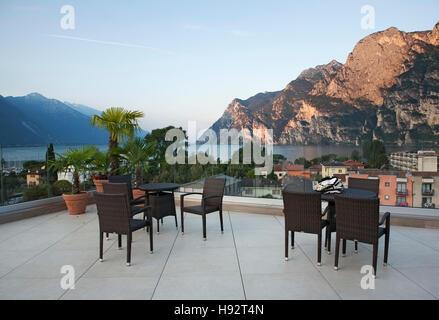 Lake Garda sunrise - Stock Photo