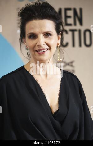 Madrid, Spain. 19th Nov, 2016. Juliette Binoche attended 'Women in Action' award to Juliette Binoche photocall at - Stock Photo