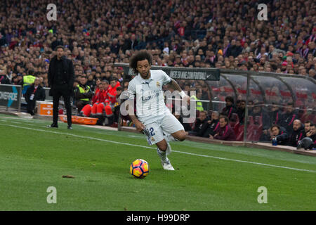 Madrid, Spain. 19th Nov, 2016. Marcelo. Real Madrid beats Atletico de Madrid by 3 to 0 in the last League derby - Stock Photo