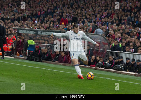 Madrid, Spain. 19th Nov, 2016. Bale. Real Madrid beats Atletico de Madrid by 3 to 0 in the last League derby in - Stock Photo