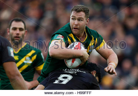 Rugby League Britain - Australia v New Zealand - 2016 Ladbrokes Four Nations Final - Anfield, Liverpool - 20/11/16 - Stock Photo
