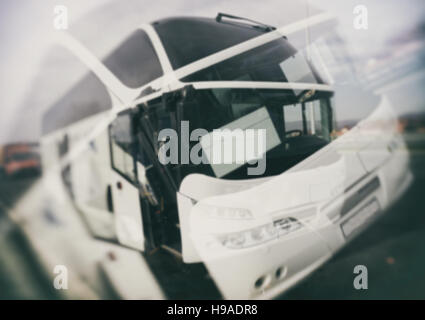 Bus, backgrounds, textures, blurred images, double vision - Stockfoto