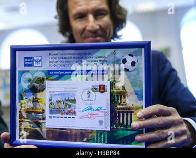 Moscow, Russia. 22nd Nov, 2016. Alexei Smertin, Russian former football player and a 2018 FIFA World Cup ambassador, - Stock Photo