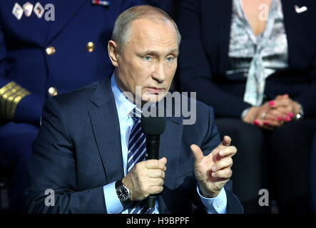 Moscow, Russia. 22nd Nov, 2016. Russia's President Vladimir Putin addresses the Action Forum organised by the All - Stock Photo