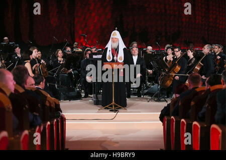Moscow, Russia. 22nd Nov, 2016. Patriarch Kirill of Moscow and all Russia at a concert marking his 70th birthday - Stock Photo