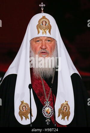 Moscow, Russia. 22nd Nov, 2016. Patriarch Kirill of Moscow and all Russia at a concert marking his 70th birthday - Stockfoto