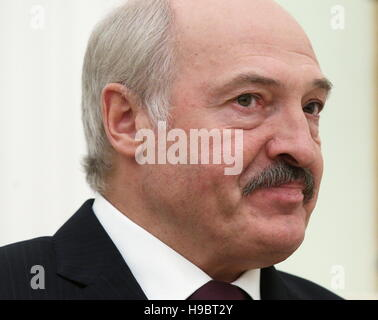 Moscow, Russia. 22nd Nov, 2016. Belarusian President Alexander Lukashenko during a meeting with Russia's President - Stock Photo