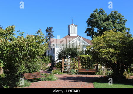 Luther burbank gardens carriage house and spineless cactus stock photo royalty free image for Luther burbank home and gardens
