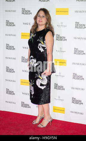 London, UK. 22nd Nov, 2016.  Alexandra Shulman attends The Design Museum VIP launch on November 22, 2016 in London, - Stock Photo